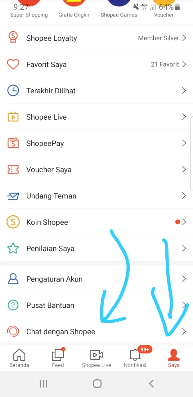 chat dengan robot CS Shopee