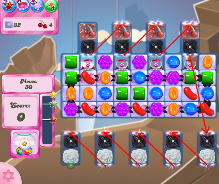 Candy Crush Saga level 2621