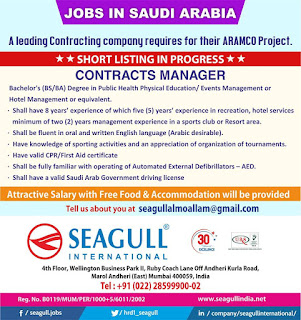 A leading contracting company requires for their ARAMCO Project TEXT IMAGE