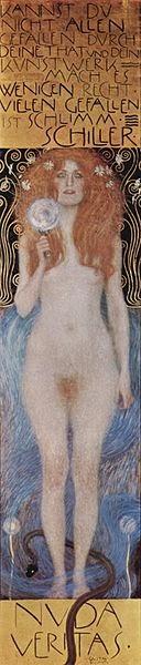 la Verdad Desnuda by Gustav Klimt