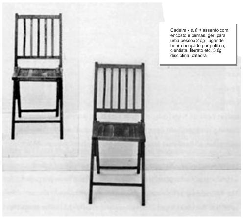 KOSUTH J. One and Three Chairs. Museu Reina Sofia, Espanha, 1965.