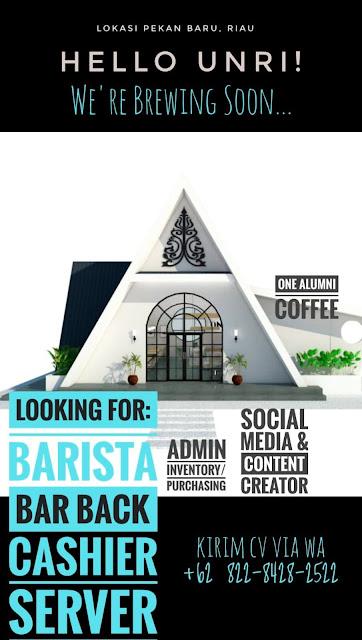 New Eyes F&B Consultant bekerja sama dengan One Alumni Coffee membuka lowongan di PEKAN BARU