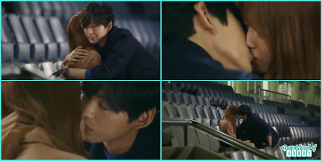 kwang tae kiss mal ja at the horse stadium - Longing For Spring korean Drama