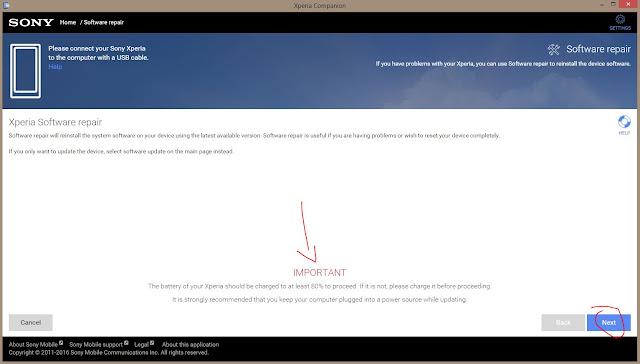 Cara mudah Flash semua Sony Xperia secara online dengan Xperia Companion