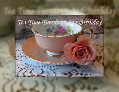 Please join me January 23 for Tea Time Tuesday's 2nd Birthday
