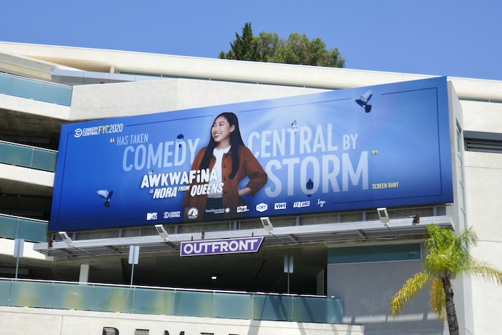 Awkwafina Nora from Queens Emmy FYC billboard