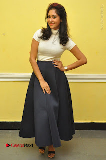 Telugu Actress Sindhu Affan Latest Pos in Black Skirt at Www.Meena Bazaar Movie Opening  0053.JPG