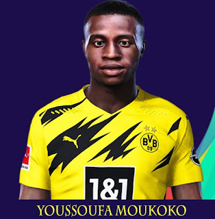 PES 2021 Faces Youssoufa Moukoko by Rachmad ABs
