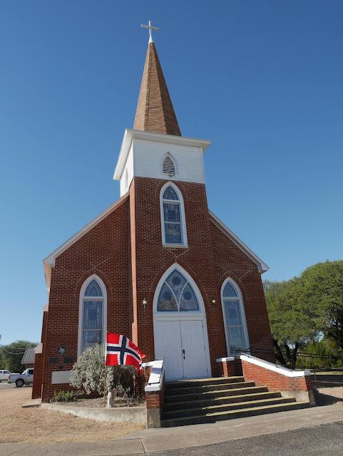 Our Saviors Lutheran Church at Norse in Clifton, Texas (norwegian church)