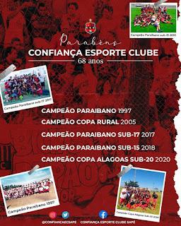 Sapé comemora os 68 anos do Confiança Esporte Clube