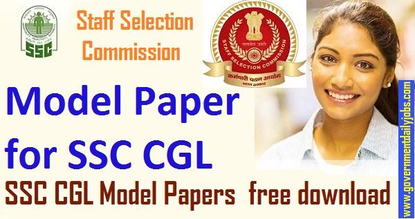 SSC CGL Mock Test Paper