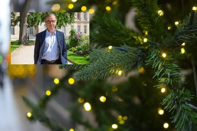 """Bordeaux : Pierre Hurmic, le maire écolo (EELV) supprime le sapin de Noël , un """"arbre mort"""""""