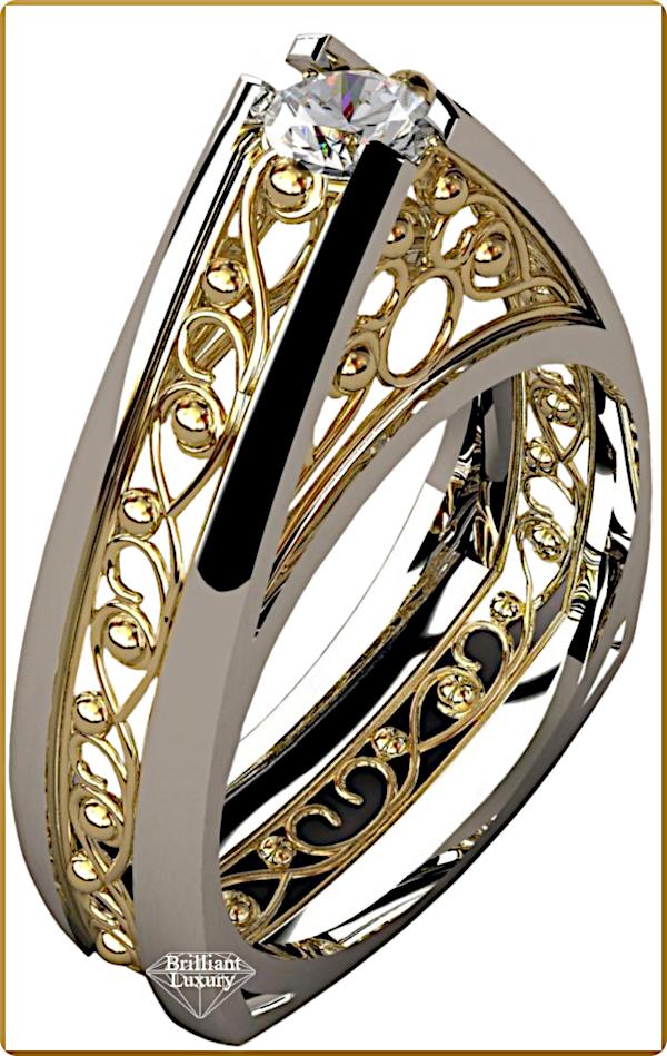 ♦Greg Neeley Pinnacle Engagement Diamond Ring #gregneeley #jewelry #brilliantluxury