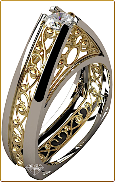 Greg Neeley Pinnacle Engagement Diamond Ring #jewelry #brilliantluxury