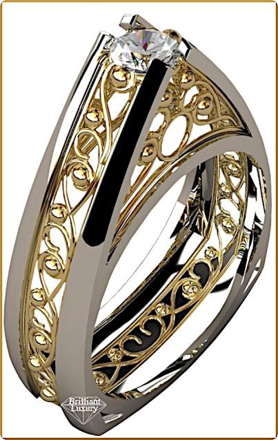 Greg Neeley Pinnacle Engagement Diamond Ring #brilliantluxury