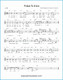 chord prelude to a kiss lagu jazz standar