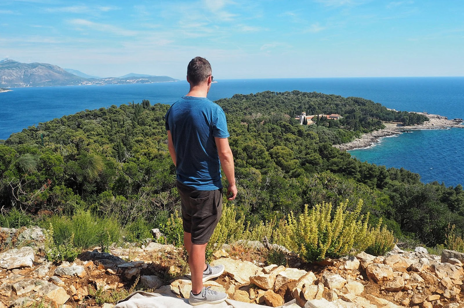 breathtaking views from Fort Royal Lokrum Island Croatia