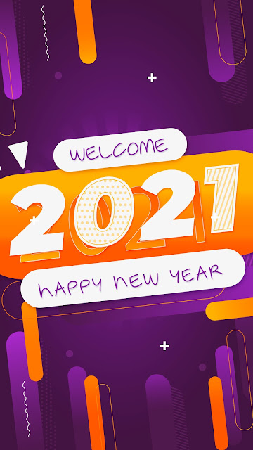 Colorful wallpaper Happy New Year 2021