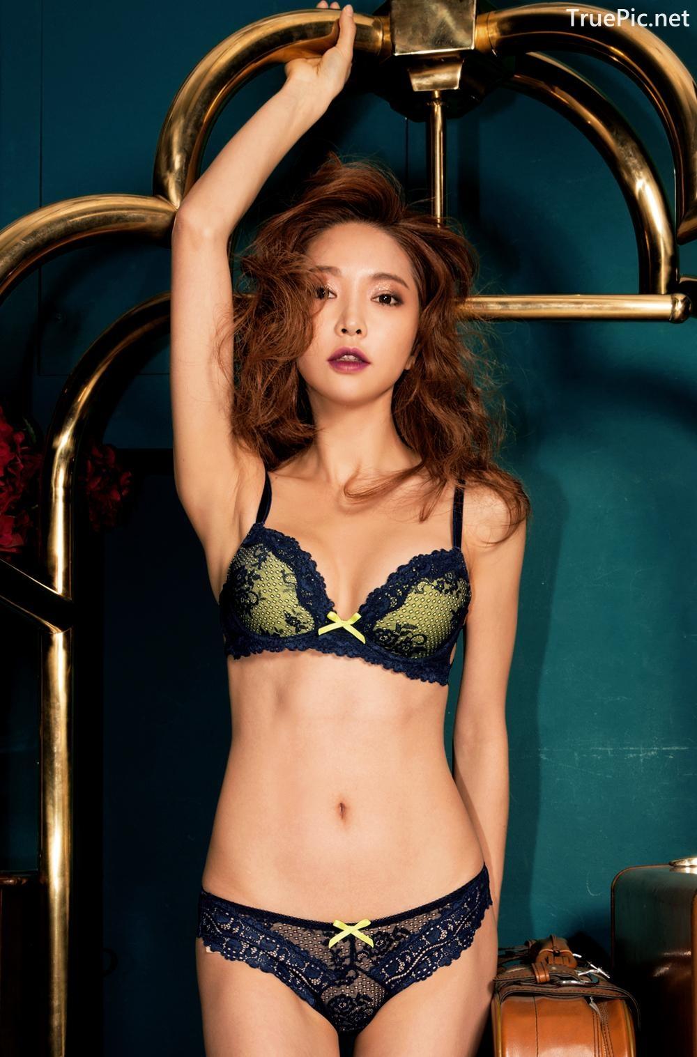 Image Korean Fashion Model - Park Soo Yeon - BVB Black Lace Lingerie - TruePic.net - Picture-6