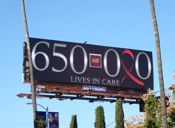AIDS HIV 650000 lives in care billboard