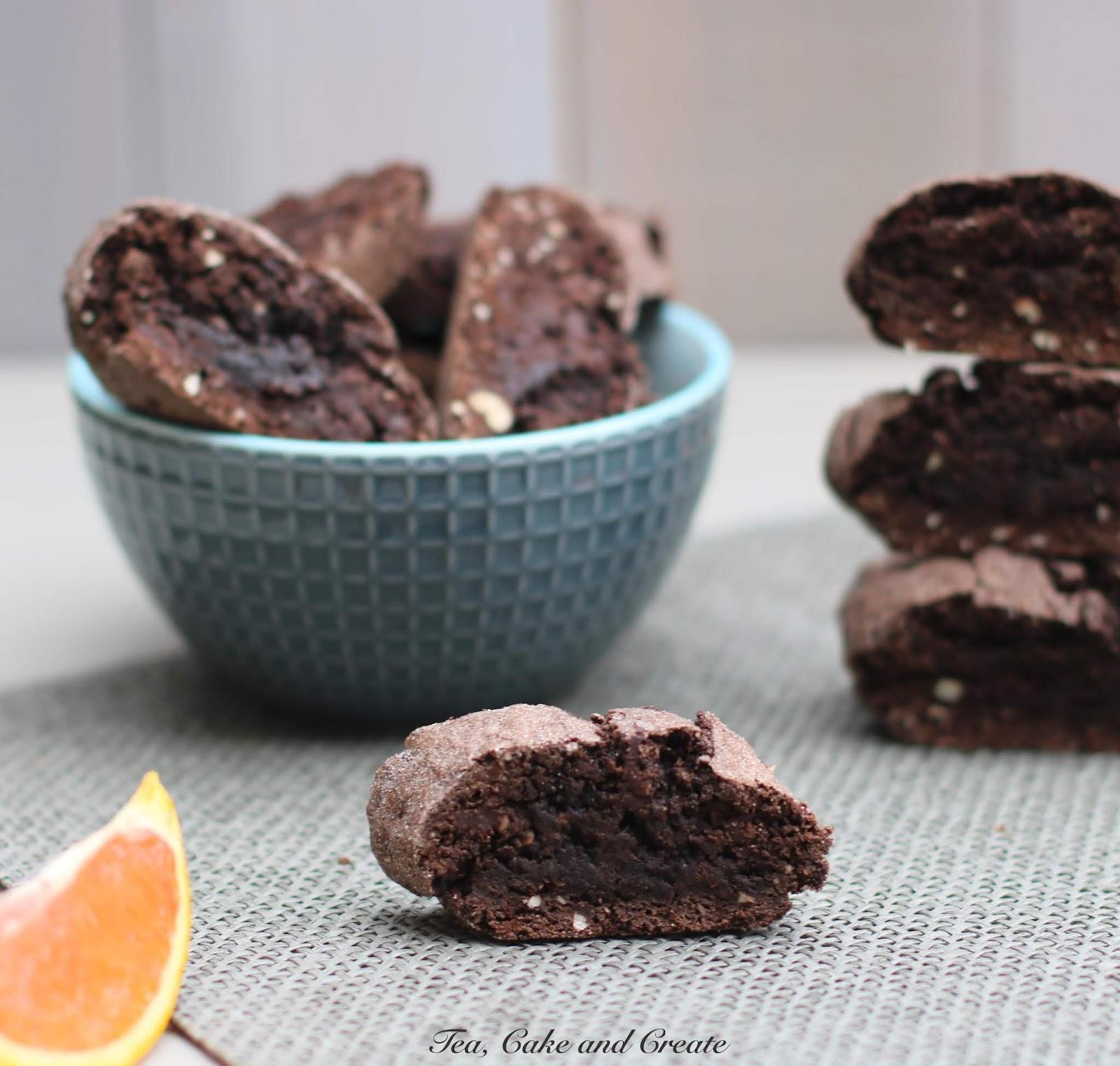 Tea, Cake & Create: Orange and Almond Dark Chocolate Biscotti