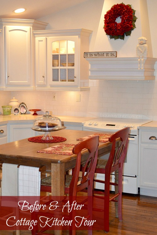 Country cottage style kitchen decor tour