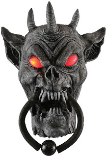 Gargoyle Door Knocker - Gray for Halloween