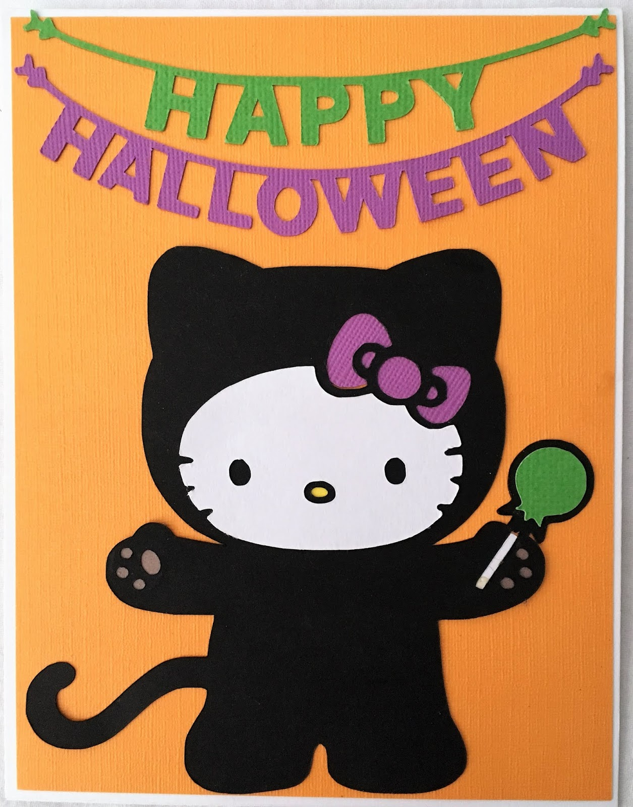 Scrap ali ever after 2018 i cut this set of three halloween hello kitty cards with the cricut maker some of the shapes are from cricuts sanrio hello kitty greetings and silhouette m4hsunfo