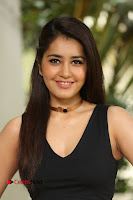 Raashi Khanna Adorable Bloack Crop Tank top and Skirt at Hyper Movie Interivew