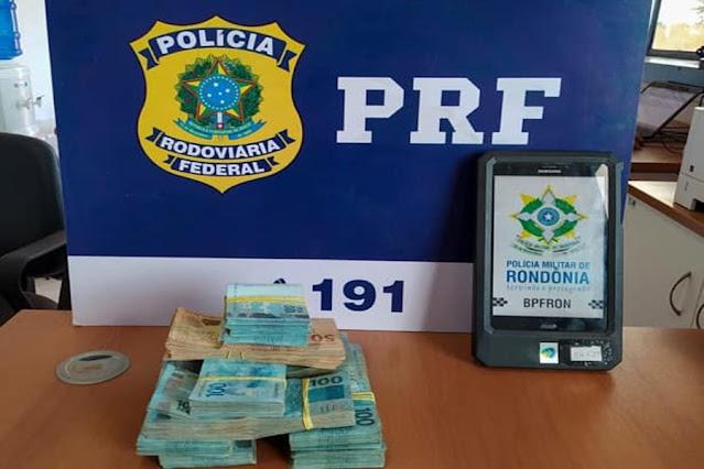 PRF faz nova grande apreensão de dinheiro em espécie em Guajará-Mirim