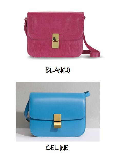 Clones 2011 bolso Céline Blanco