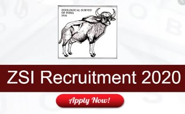 ZSI Recruitment 2020 | zoological survey of India recruitment 2020 notification
