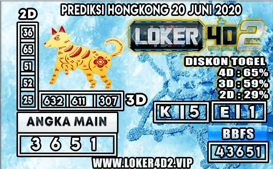 PREDIKSI TOGEL HONGKONG LOKER4D2 20 JUNI 2020