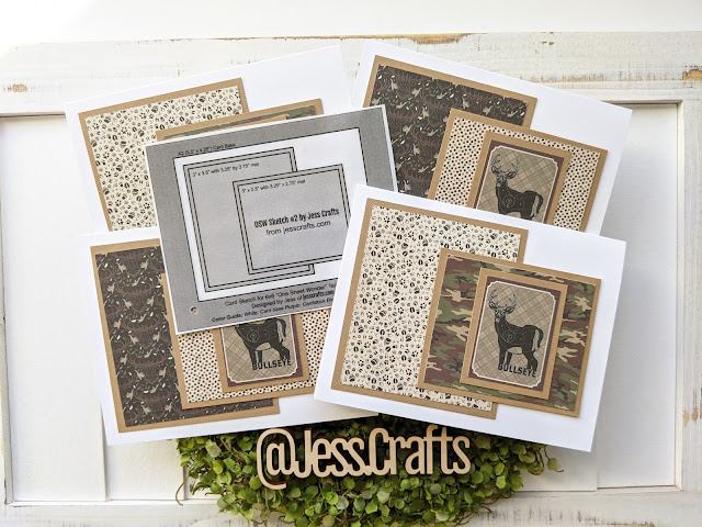 Cards made with Authentique Hunting Paper Pad by Jess Crafts