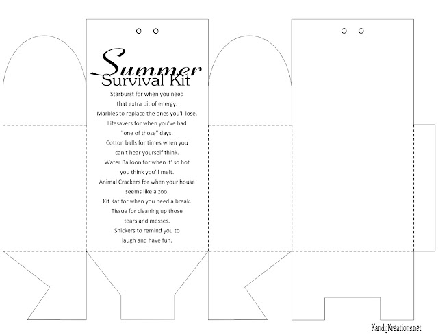 Are you ready for summer? Be sure that all your mom friends are with this printable Parent summer survival kit.  You'll give them a smile, and a few treats, with this fun survival kit to help you kick off summer with the kids.