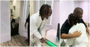 Laycon visits Don Jazzy, prostrates moment he saw him