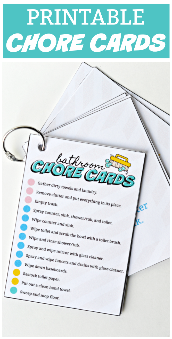 image relating to Printable Picture Chore Cards known as The Existence of Jennifer Sunrise: Printable Chores Playing cards and Checklists