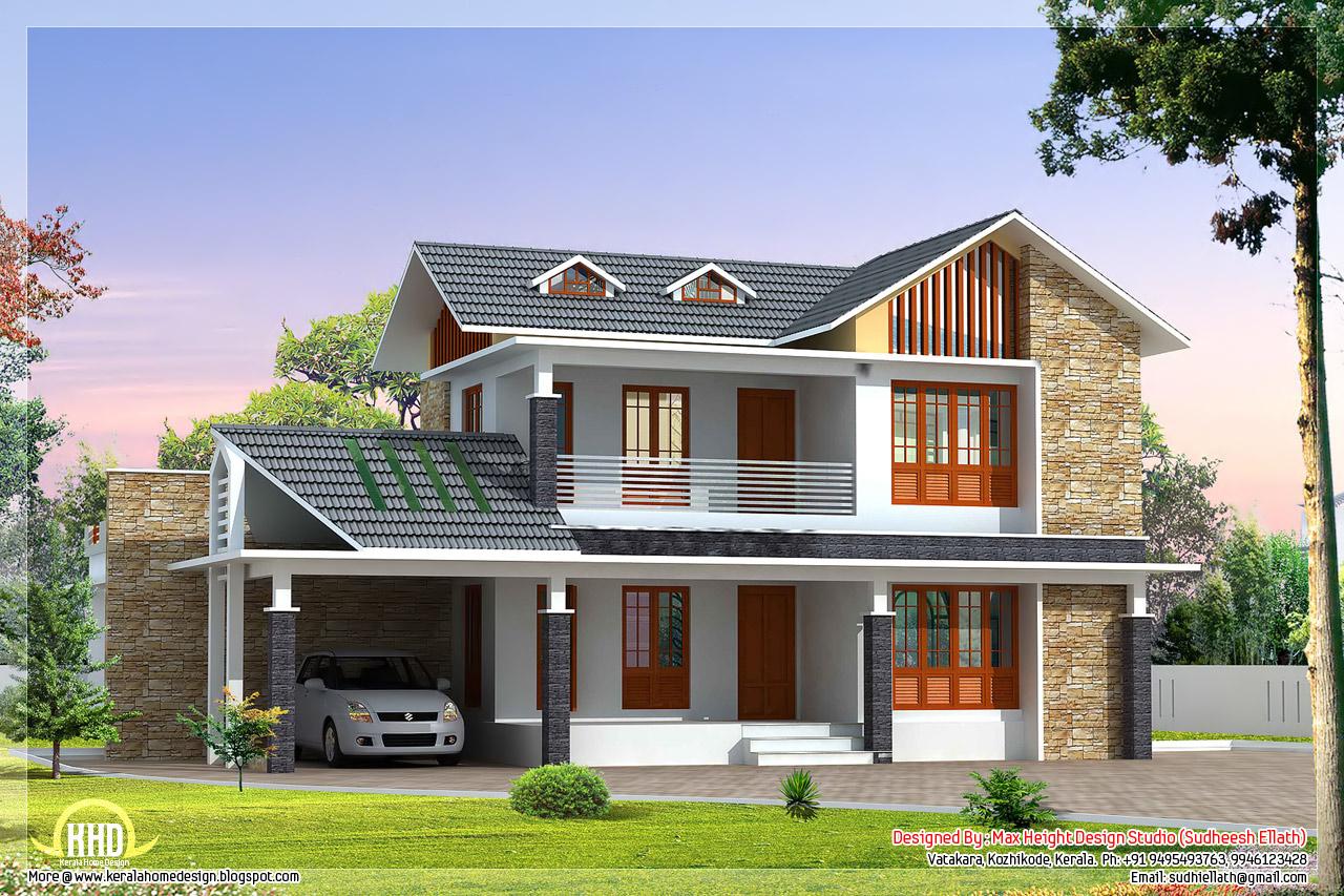 2 Beautiful Villa elevation designs in 2700 sqfeet