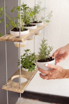 idées de jardin d'herbes arriere plan