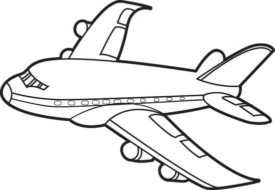 Transportation Coloring Pages: Airplanes Coloring Pictures