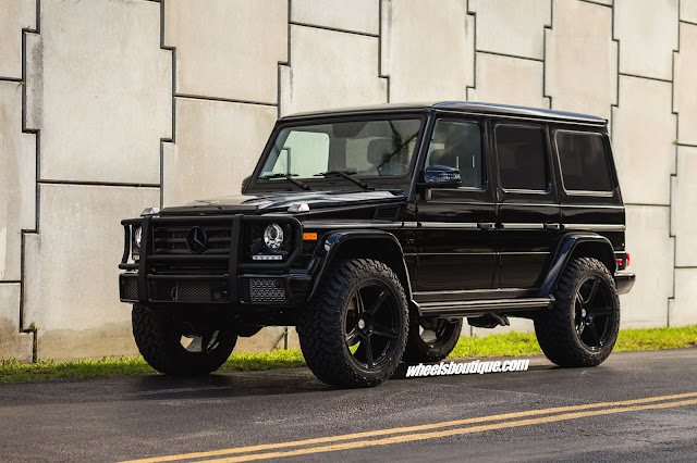Mercedes-Benz G550 with HRE TR45 in Gloss Black - #Mercedes #G550 #HRE #wheels #suv #tuning
