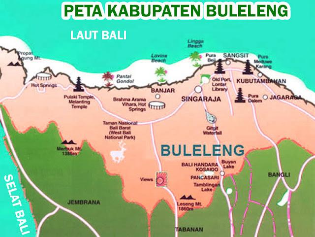 Gambar Peta Kabupaten Buleleng Lengkap