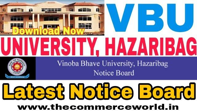 Vinoba bhave University, Hazaribag Notice Board 2021