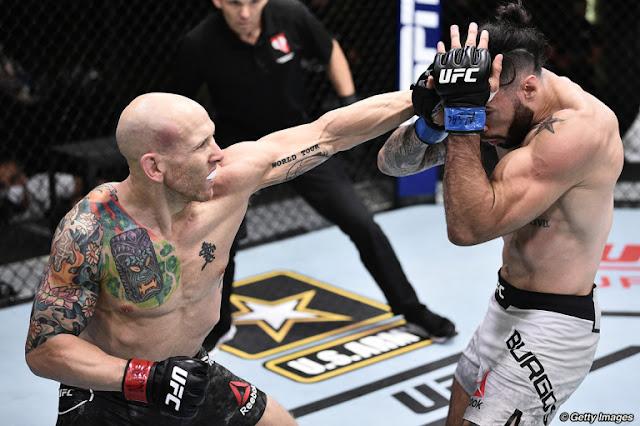 Josh Emmett Tags Shane Burgos UFC On ESPN 11