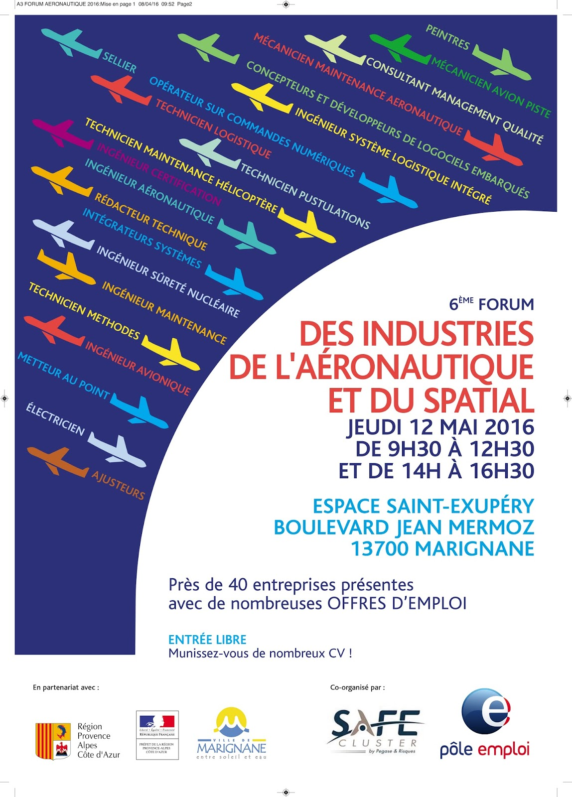 forum des industries de l 39 a ronautique et du spatial jeudi 12 mai marignane. Black Bedroom Furniture Sets. Home Design Ideas