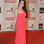 Amisha Patel spicy Cleavage show in Hot Pink dress