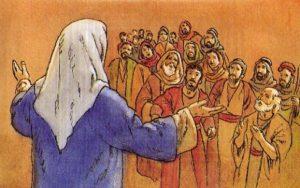 Gesù istruisce i discepoli