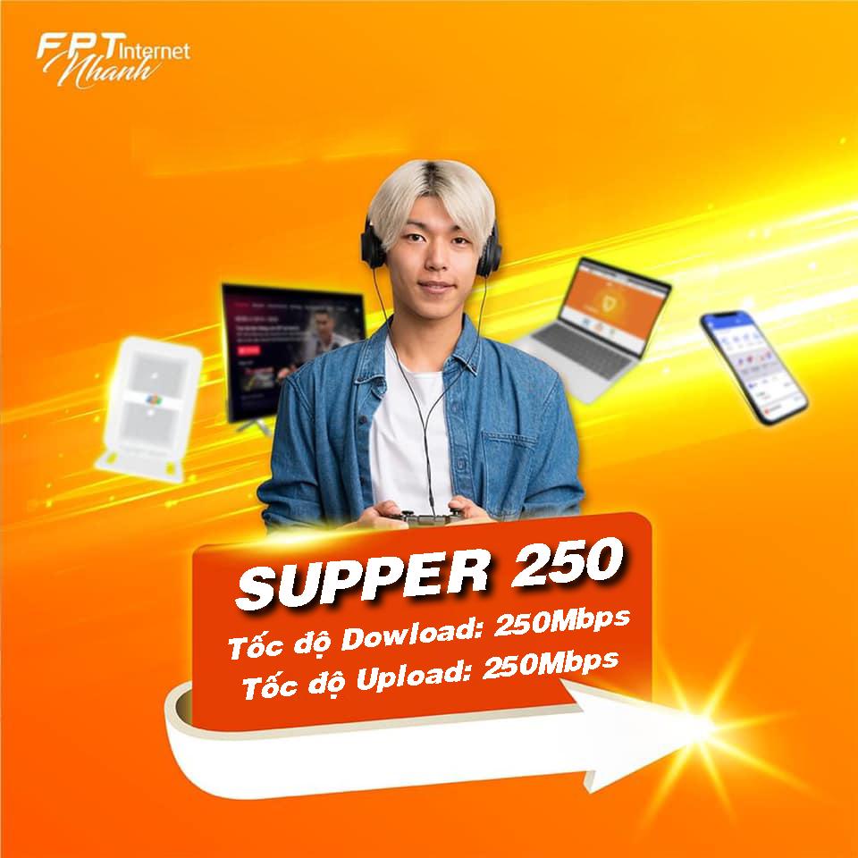 Gói cước Internet cáp quang FPT tốc độ 250Mb dành cho doanh nghiệp
