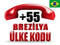 +55 Brezilya ülke telefon kodu