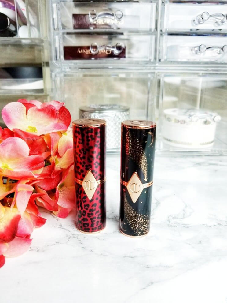 Charlotte Tilbury Hot Lips Lipstick 2 in Dance Floor Princess and JK Magic | Do They Live Up to the Hype? Beautiful Tube Designs